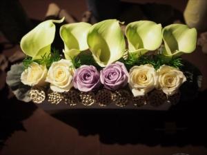 新しい仏花の形、祈り花展 in キャンドル卓 渡邉邸
