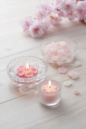 【季節商品】上品で可憐な「桜」のキャンドル