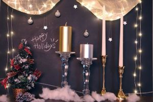 クリスマスを彩るキャンドル装飾