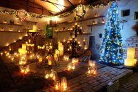 山梨県甲州市のハーブ庭園旅日記様で、クリスマスイルミネーション2018開催中